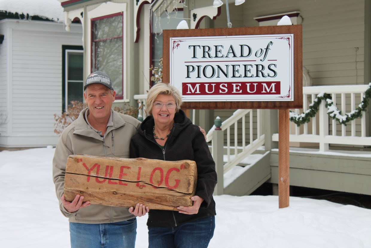 Doug and Suzi Warner, of Steamboat Springs, were the winners of the 37th annual Yule Log Hunt. They found the log at the Strings Music Pavilion.