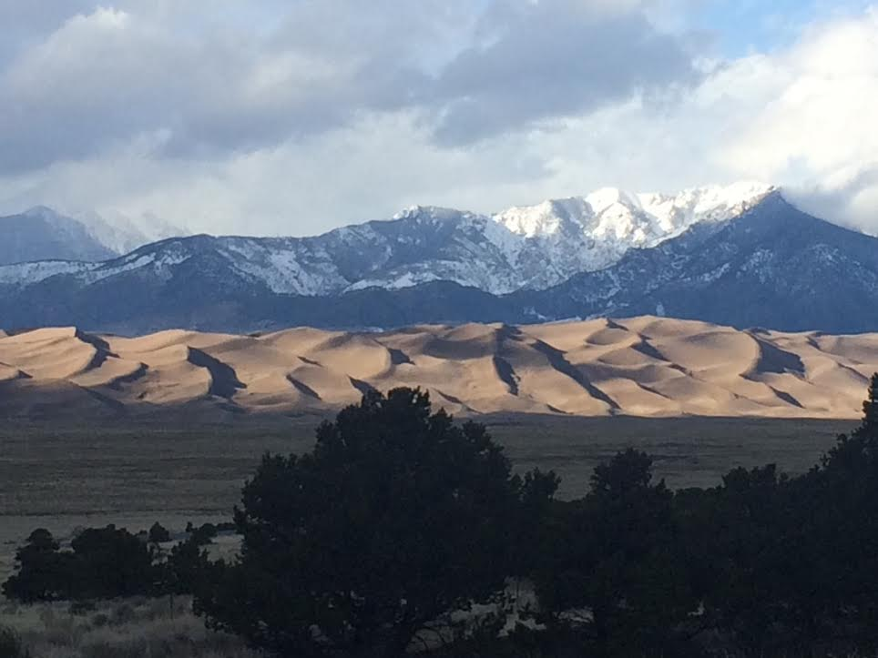 """How we spent mud season: Great Sand Dunes National Park."" Submitted by Curt Merchant, of Steamboat."