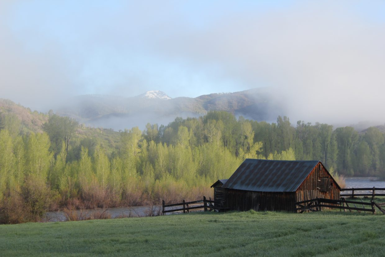 Barn on the Elk River. Submitted by: Diane Miller