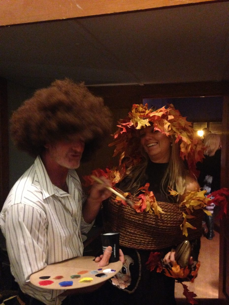 Last week at a Halloween Party Bob Ross and Heather Bolles pose for a picture.