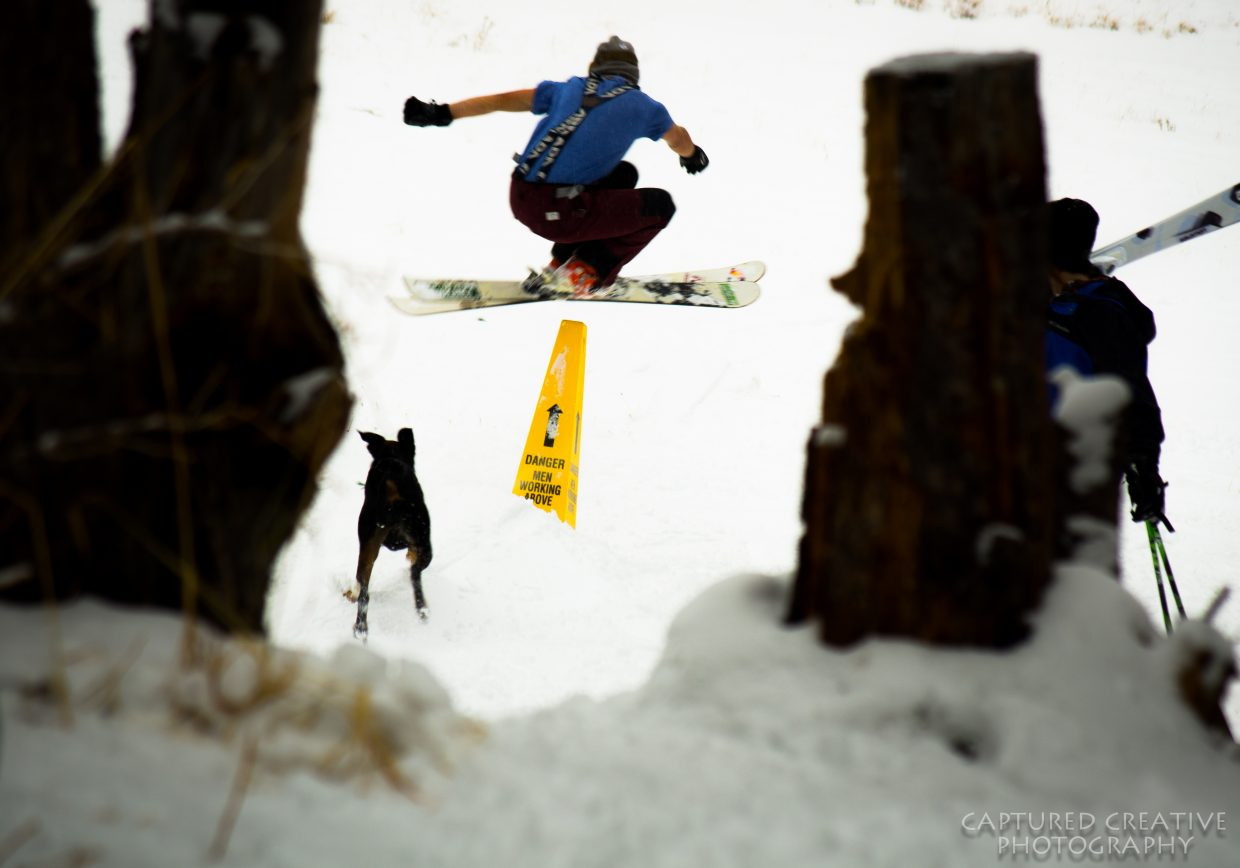 """""""Danger: John Page is shredding above."""" Submitted by Zach Shortway."""