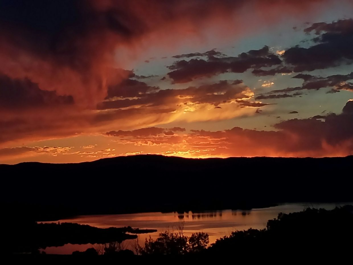 Sunset over Steamboat Lake. Submitted by Burga Nestora