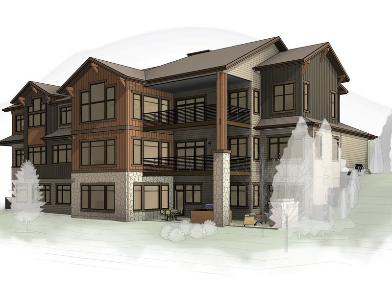 Chadwick Flats is a three-unit residential development currently under construction on Eagle Glen Drive. In a design new to Steamboat, the three horizontal residences will be stacked atop each other to maximize views and provide single-level living.