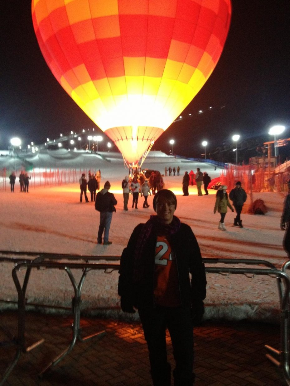 Balloon Glow: Bronco orange. Submitted by: Robin Chew