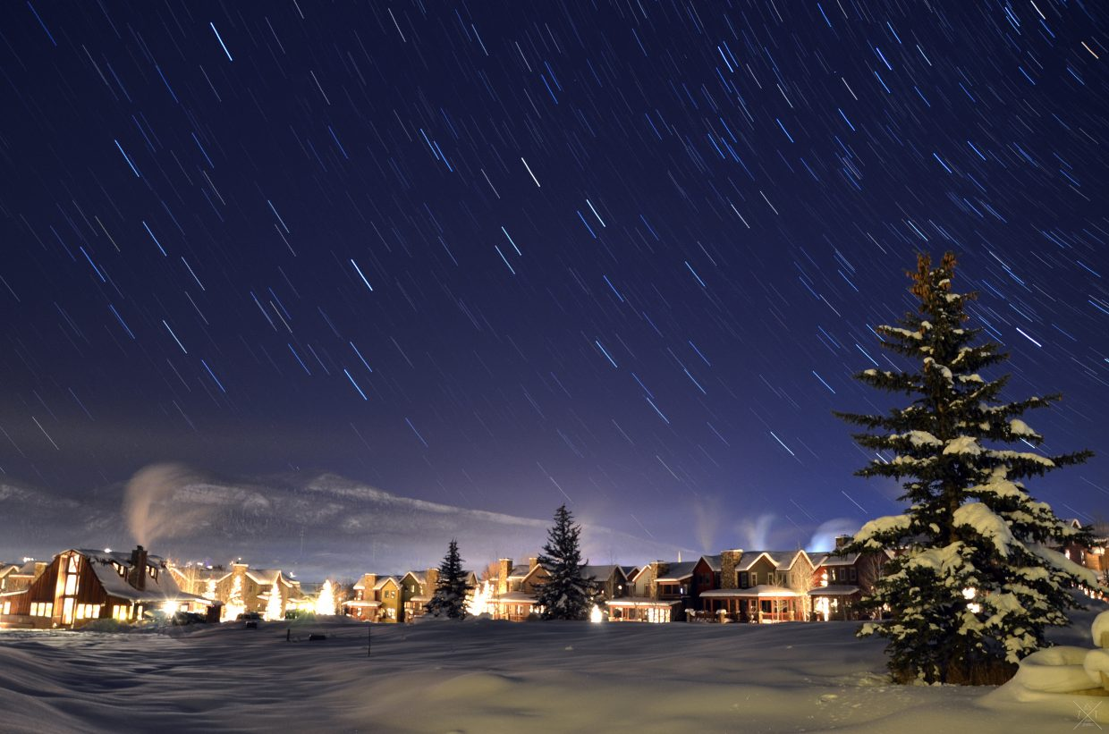 Shot in the Rockies neighborhood in Steamboat at 10:30 p.m. on Christmas. Submitted by: Zerek Twede
