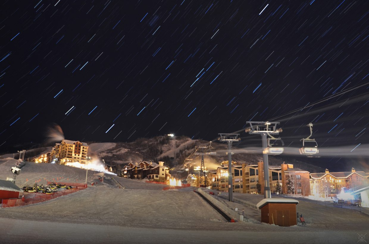 The night sky over the mountain in Steamboat at 10:30 p.m. on Christmas. Submitted by: Zerek Twede