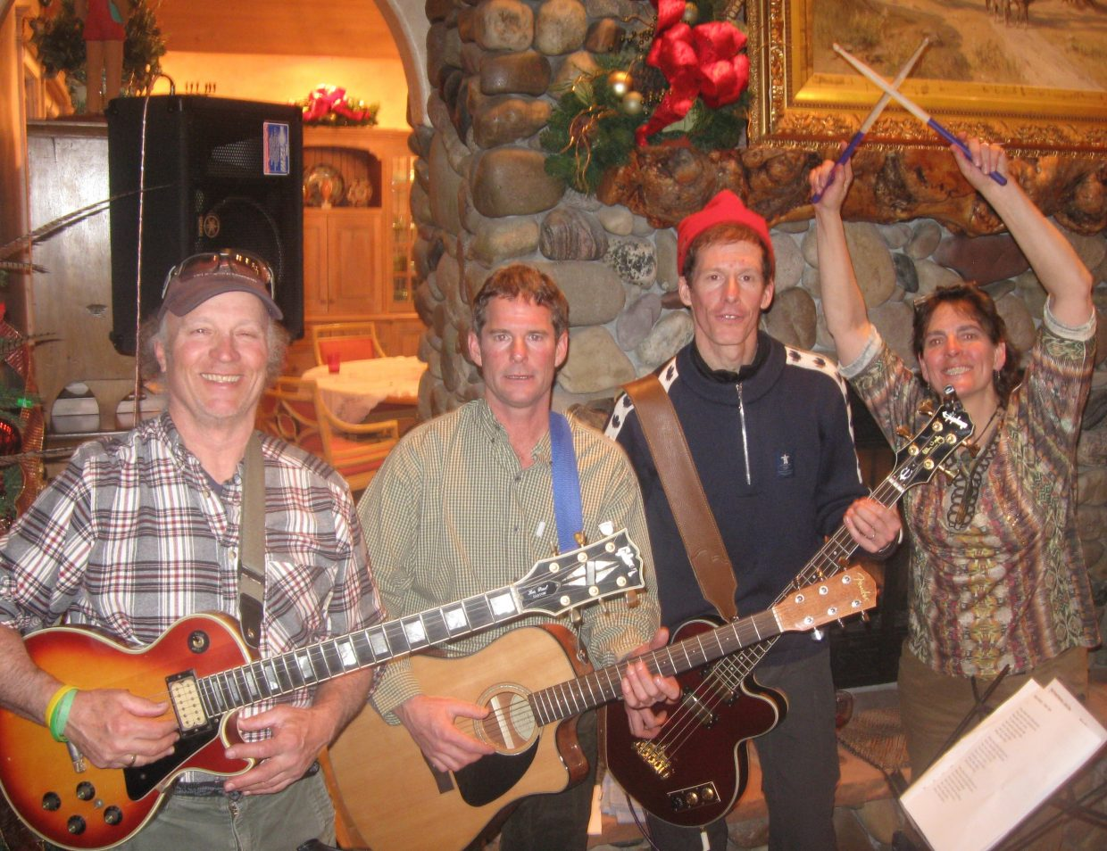 Barenaked Ladies bassist Jim Creeggan played an impromptu set with members of the local band El Kabong on New Year's in Steamboat Springs. From left, Pete Van De Carr, Eugene Buchanan, Creeggan and Gretchen Van De Carr. Not pictured are band members Cam Boyd, Tom Larson and Brad Williams.