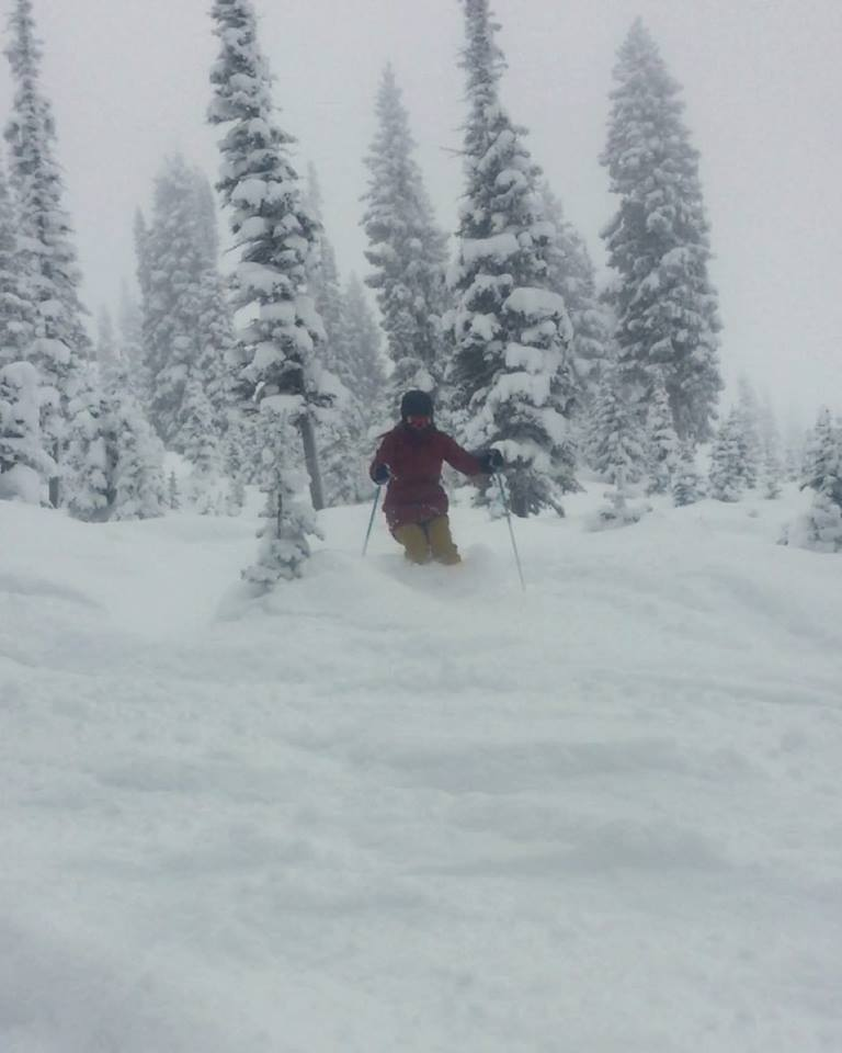 Michael Marchand having a blast on a powder day.