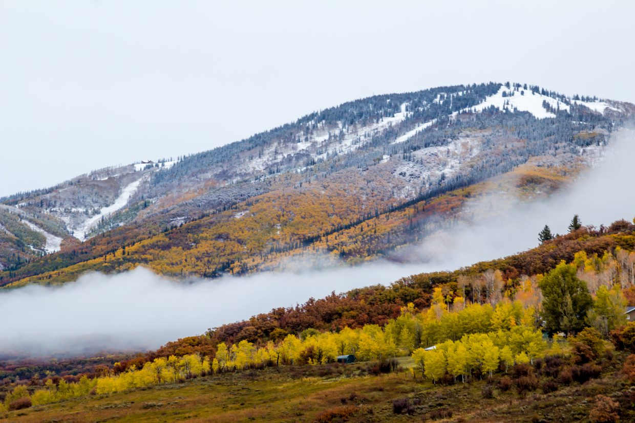 Mount Werner after a light dusting. Submitted by: Michael Burns