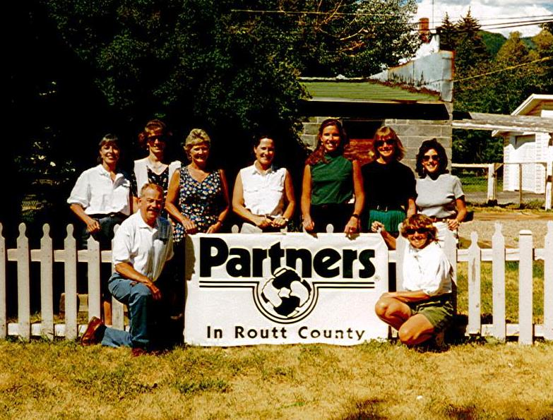 The majority of the founding board of Partners in Routt County poses for a photo in 1996, the year the organization was established.