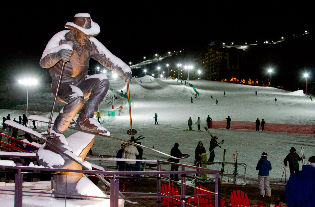 Night skiing begins. Submitted by: George Fargo