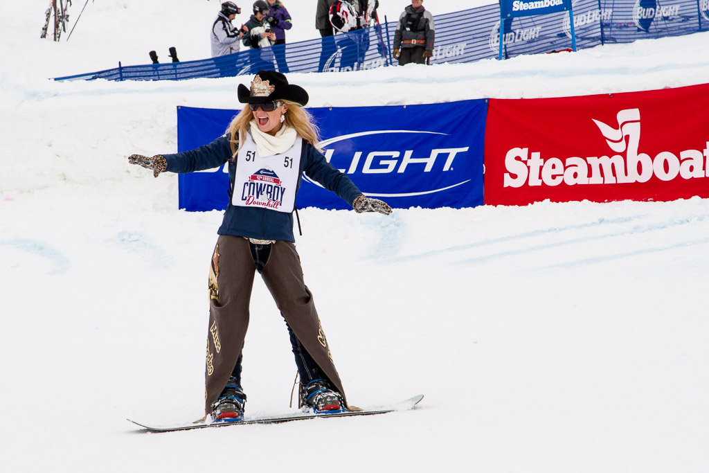 Jane Revercomb, Miss Rodeo Virginia, surfs the Cowboy/girl Downhill. Submitted by George Fargo.