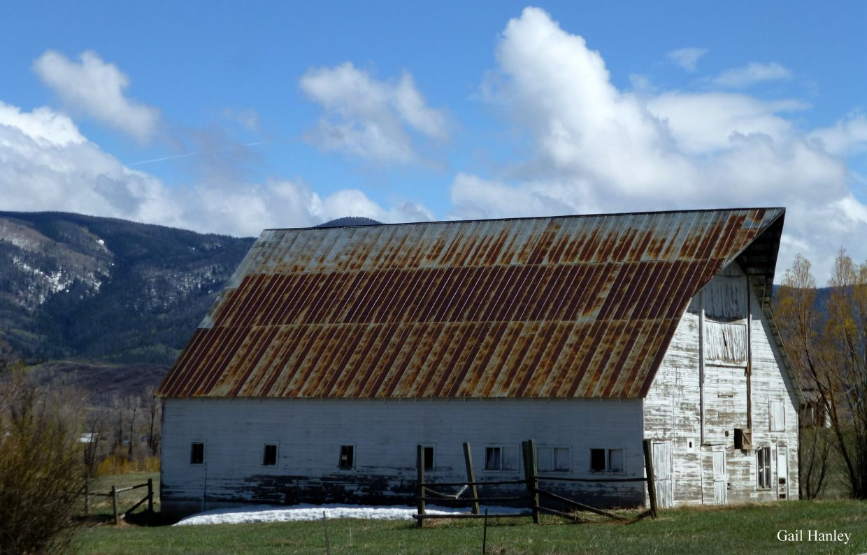 The old Laramore dairy barn. Submitted by Gail Hanley.