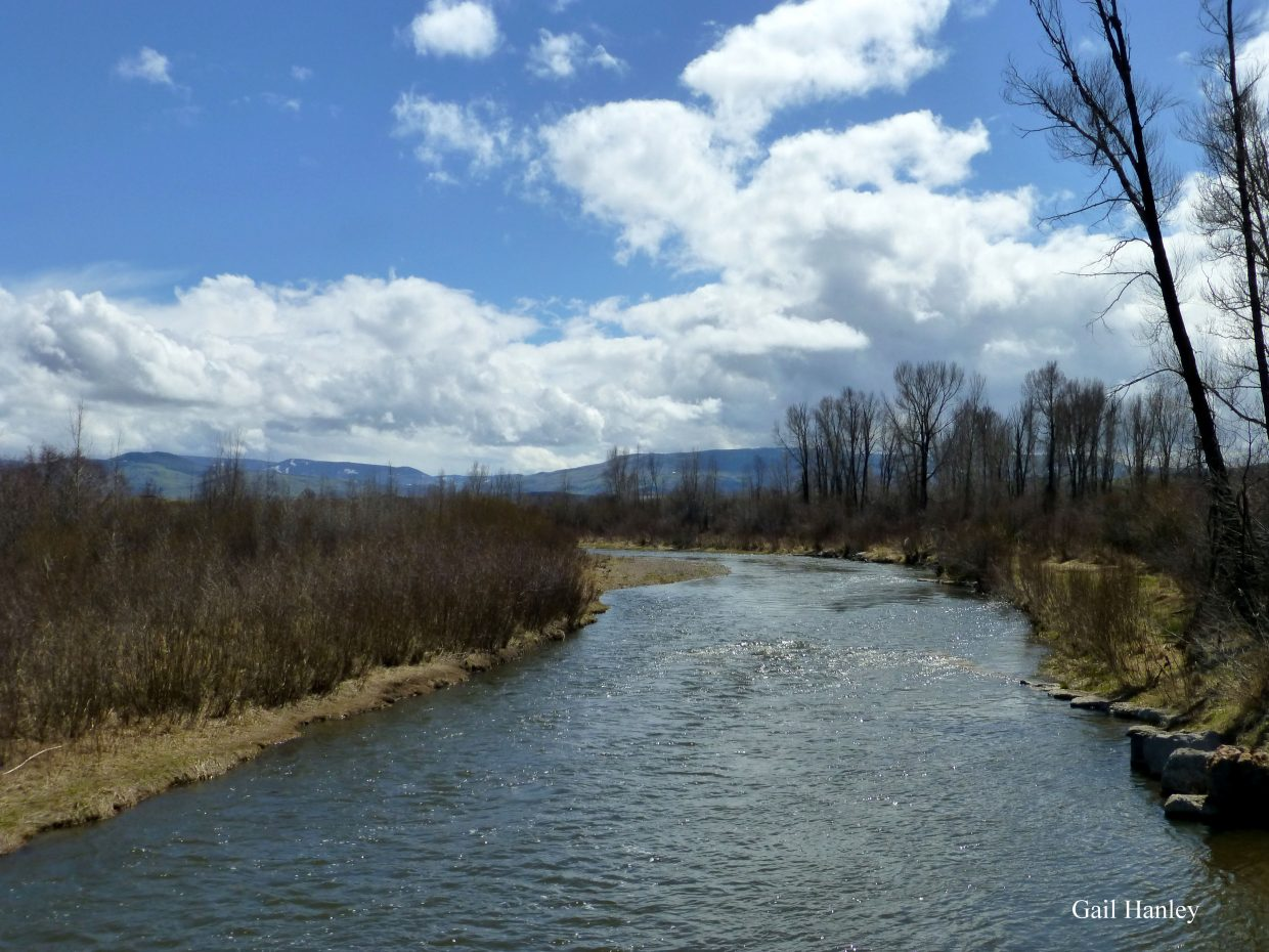 On the Yampa River, looking south. Submitted by Gail Hanley.