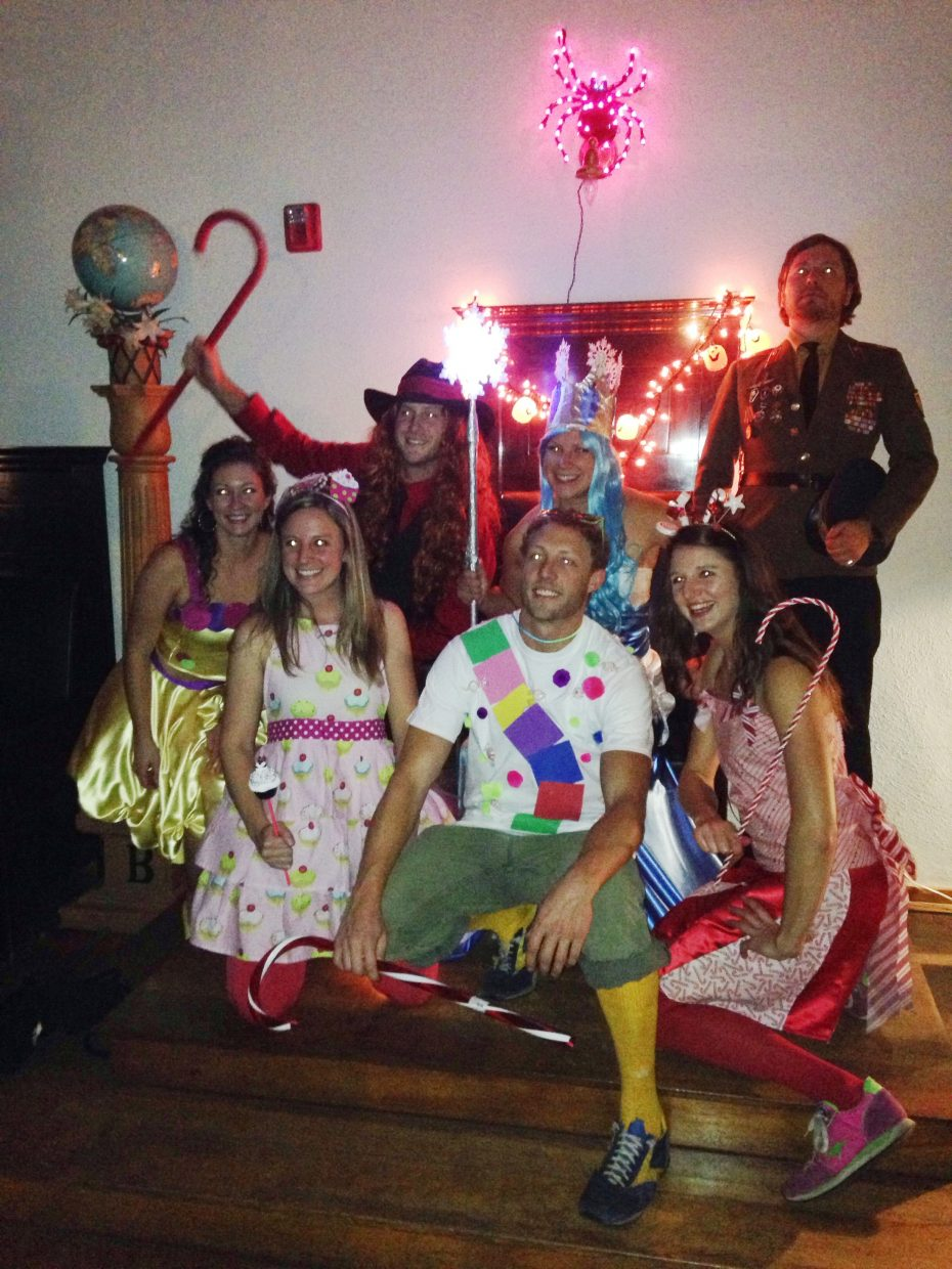 At a Halloween party last weekend, Chris Fletcher, Ally Press, Melissa Robinson, Courtney Parks, Dave Rock and Jia Carroll pose for a photo dressed in a variety of costumes.
