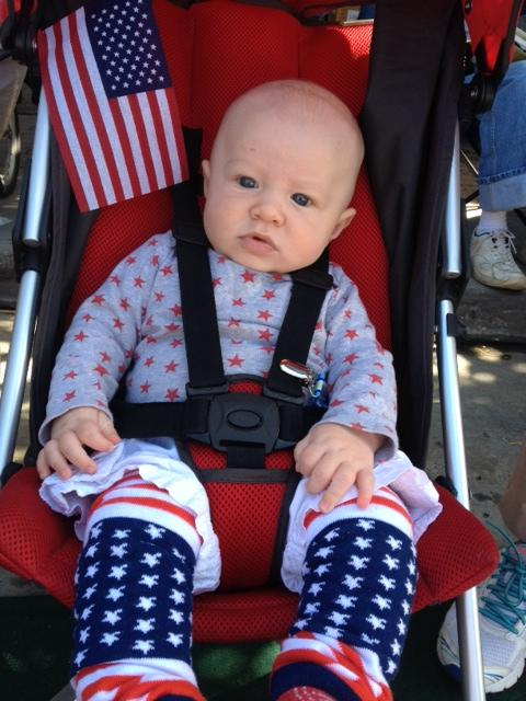 Cole St. Clair (3 months) from San francisco enjoying the parade. Submitted by: Molly St. Clair