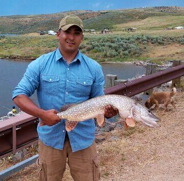 Pike caught Tuesday at Elkhead Reservoir. Submitted by: Michael Lopez