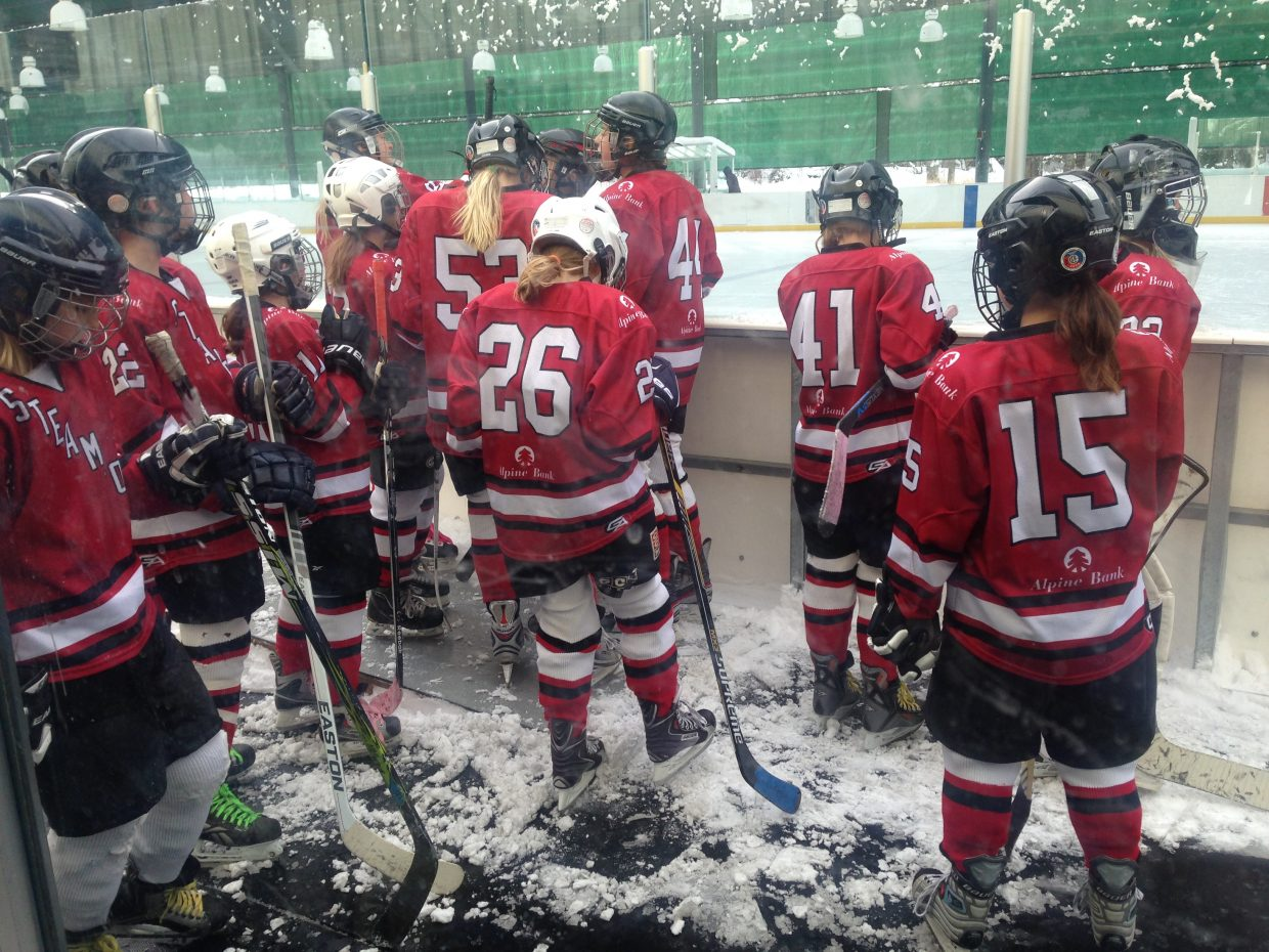 steamboat U12s, getting ready to take the ice! Submitted by Beth Liggitt.