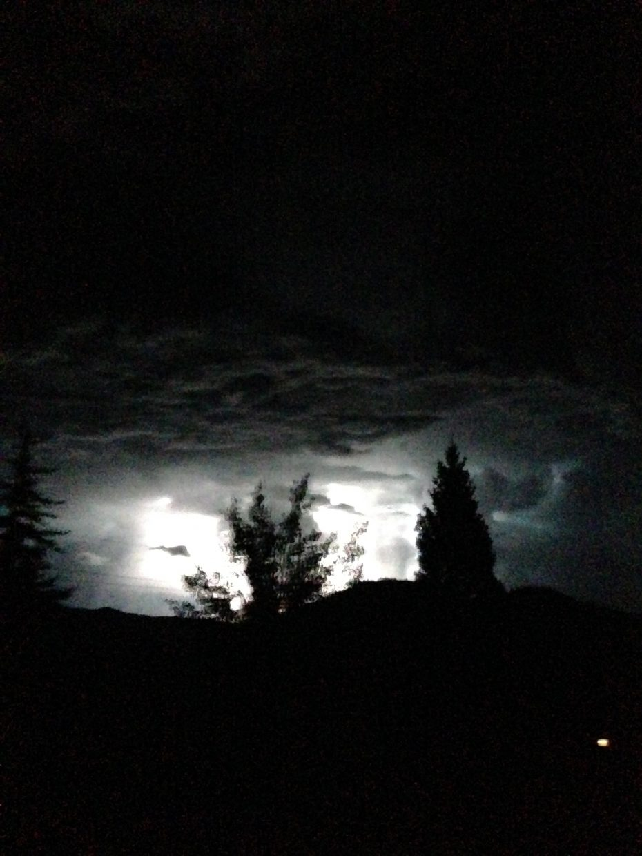 Monday night lightning storm. Submitted by Mary Davies.