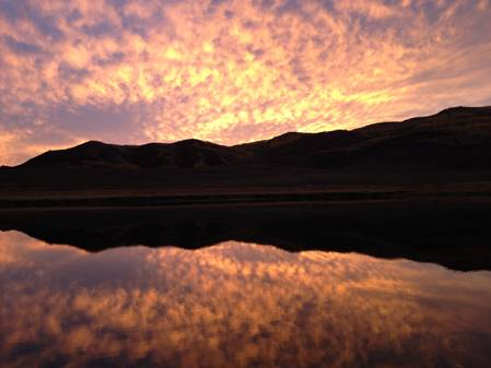 Sunset at Stagecoach Reservoir. Submitted by Steven Smith.