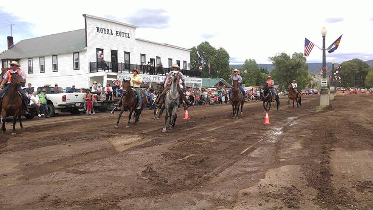 Last year's 4th of July Cowboy Polo match on main street. Photo submitted by: Dan Miller.