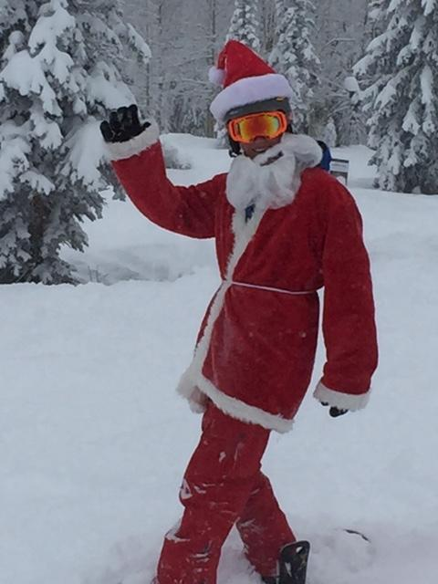 Jeff Sourbeer from Ft Myers, Florida, spreads Steamboat cheer welcoming in a white Christmas. Submitted by Shelly Sourbeer.