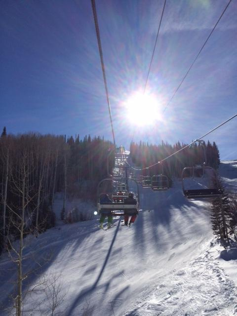 Burgess Creek chair at high noon. Submitted by: Curt Merchant, Steamboat.