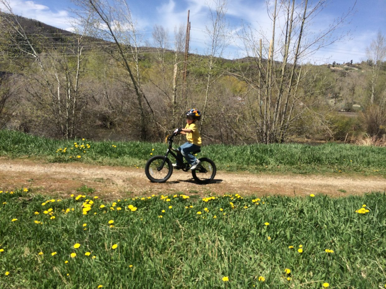 Ride along the Yampa River Core Trail. Submitted by: Connie Johnson