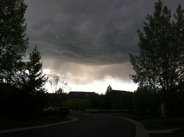 There's a storm across the valley — taken Saturday night. Submitted by: Curt Merchant