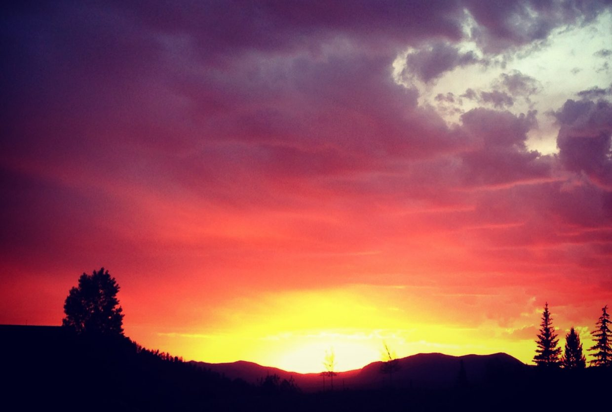 Sunset over Sleeping Giant from Hilltop Parkway on Tuesday. Submitted by: Ali Diehl