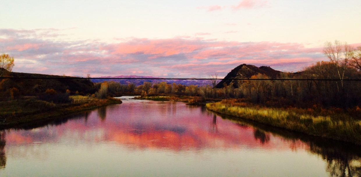 Last light on the Yampa. Submitted by: Mary Davies