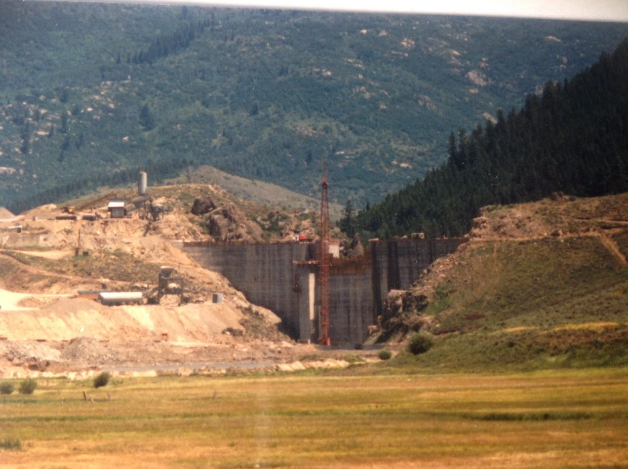 The completion of John Fetcher's Stagecoach Dam in 1988. Submitted by: Ron Szerlong
