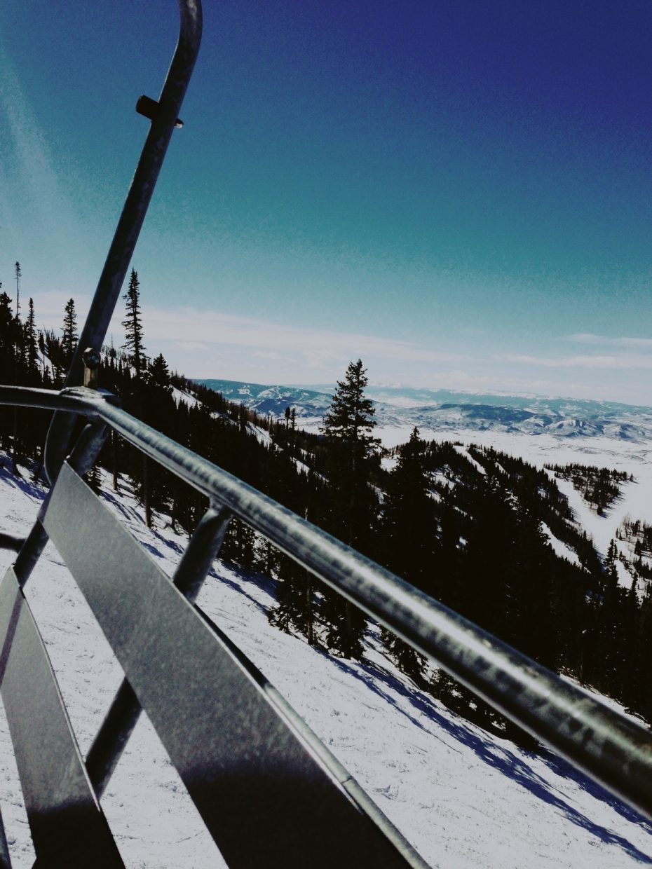 Spring sunshine off the Pony Express Lift. Submitted by: Danielle Zimmerer