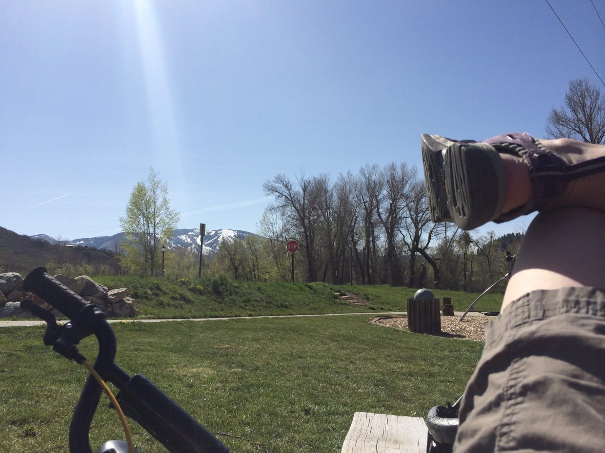 Beautiful day at the Steamboat Springs Community Center playground. Submitted by: Connie Johnson