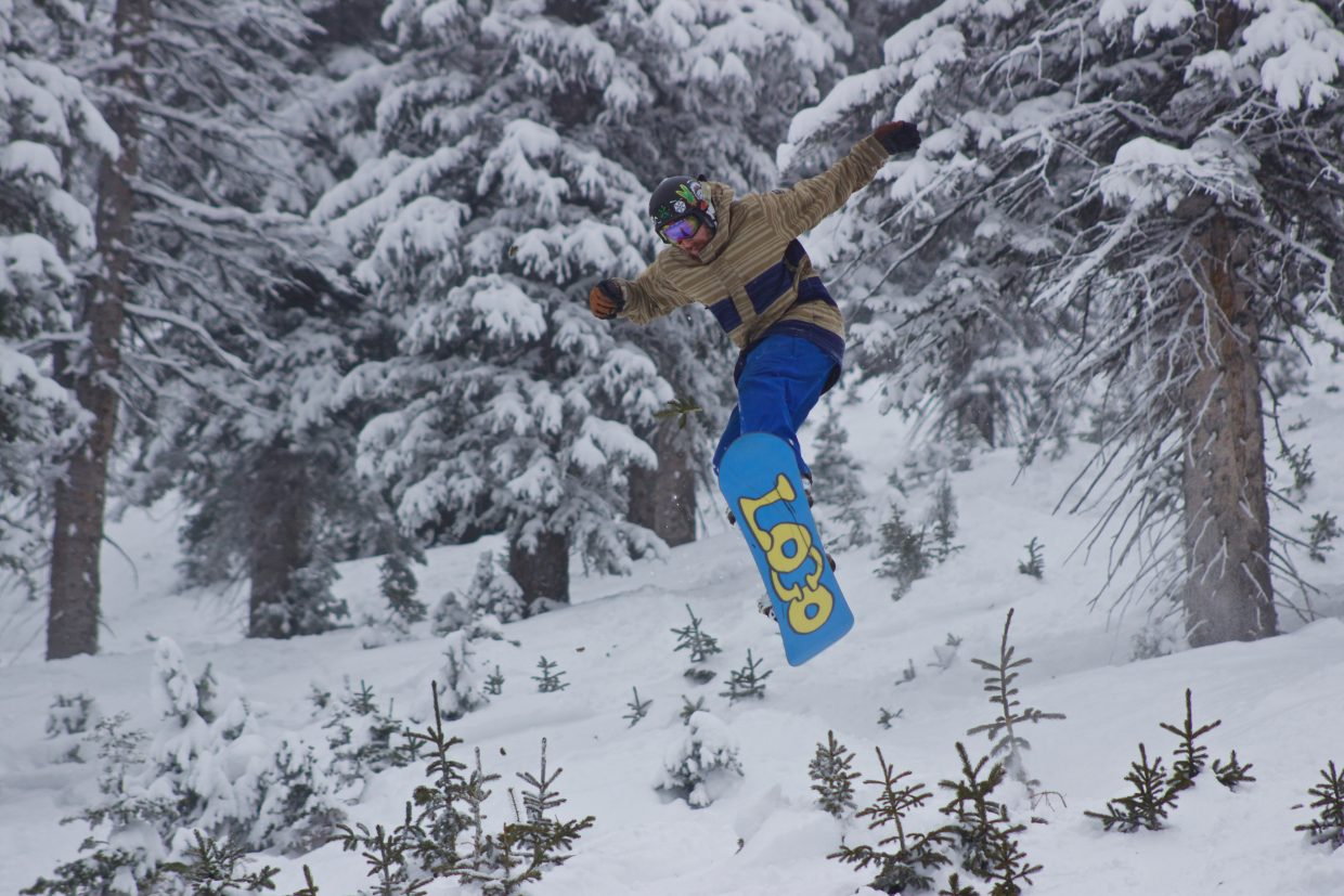 """""""Great powder day today."""" Submitted by Travis Carpenter."""