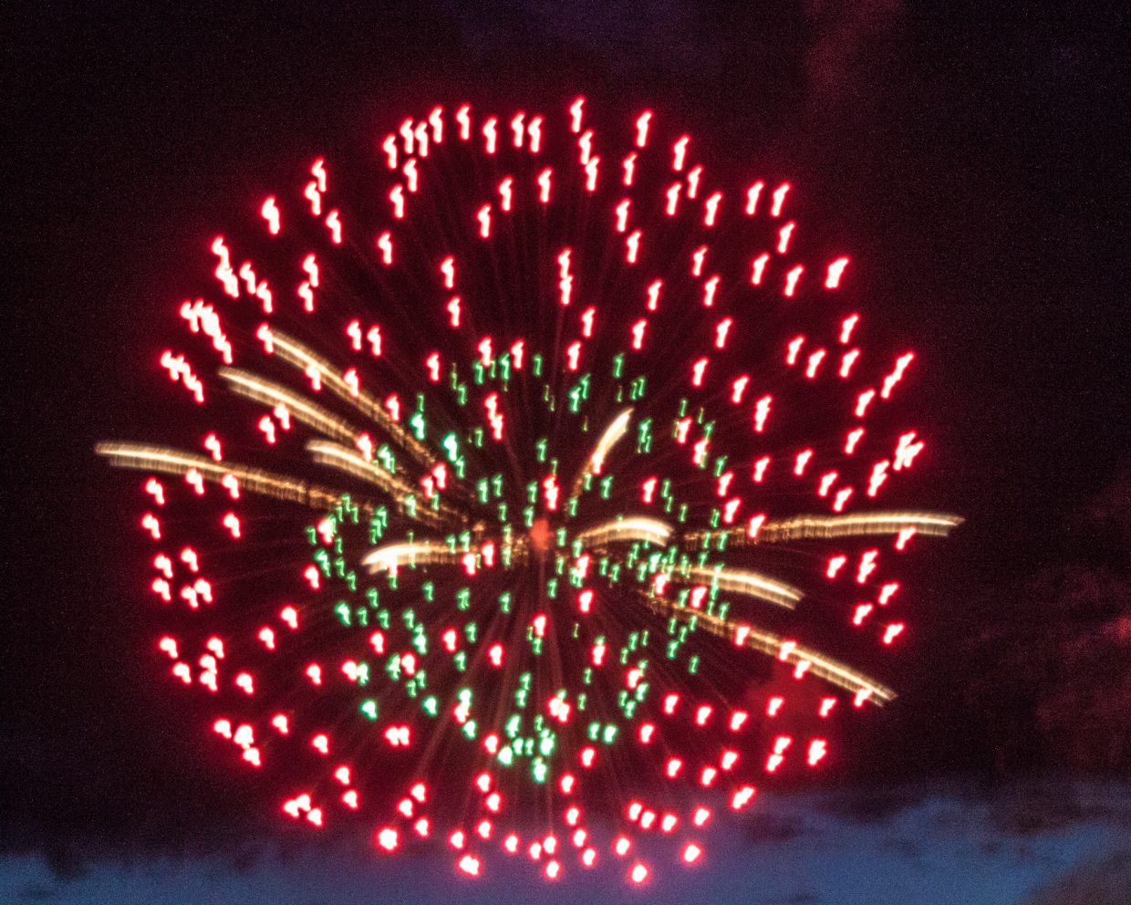 July 4th 2016 Steamboat fireworks. Submitted by G. Fredrick Reynolds.