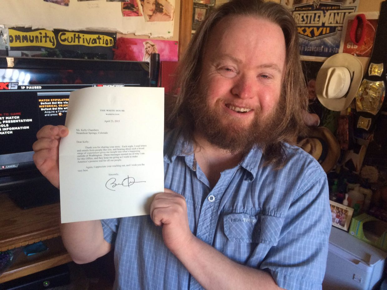 """""""After being inspired by his State of the Union Address, Kelly sent President Barack Obama a letter. Here he is with his long awaited reply!"""" Submitted by Kelly Chambers."""