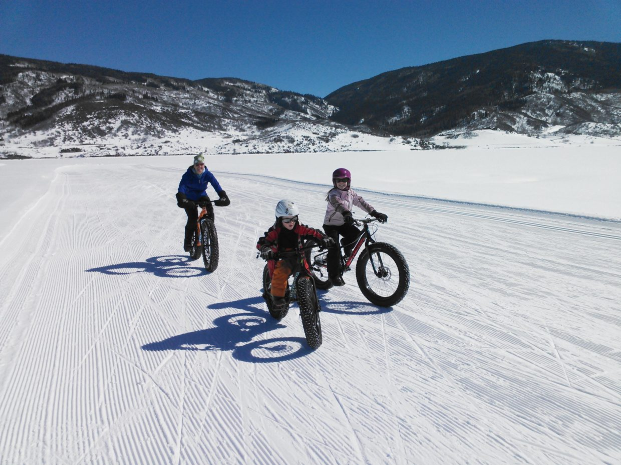 Fat biking at Lake Catamount. Submitted by Kevin Kopischke.