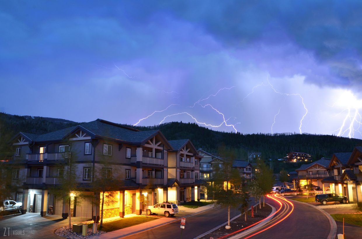 Lightning storm in Steamboat about 9:30pm May 23. Submitted by Zerek Twede.