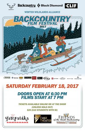 The Backcountry Film Festival, sponsored by Yampatika, takes place at 7 p.m. Saturday at the Chief Theater in Steamboat Springs.