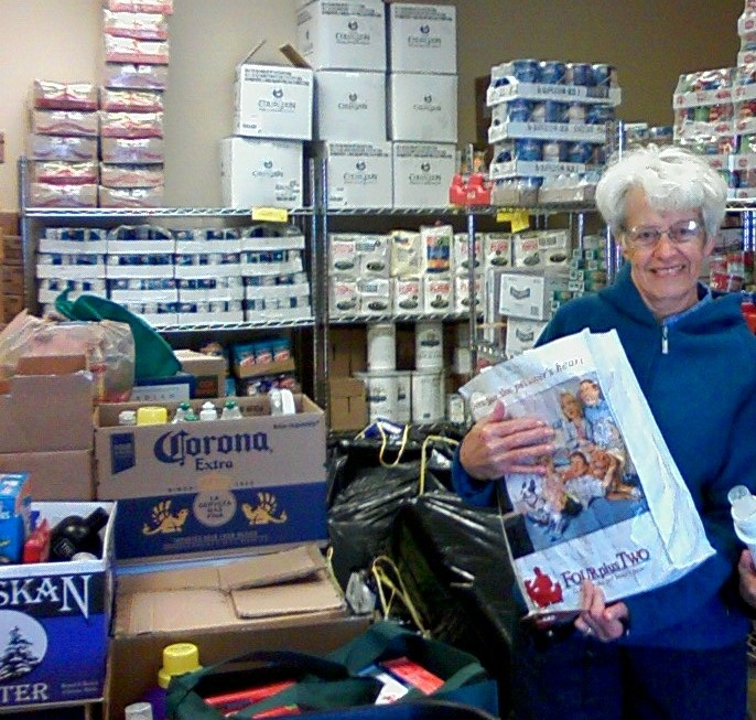 Routt County Democrats volunteer Lynn Abbott, delivers donations to LIFT-UP collected during the 2014 Martin Luther King National Day of Service Personal Care Items Drive for LIFT-UP of Routt County. Submitted by: Catherine Carson