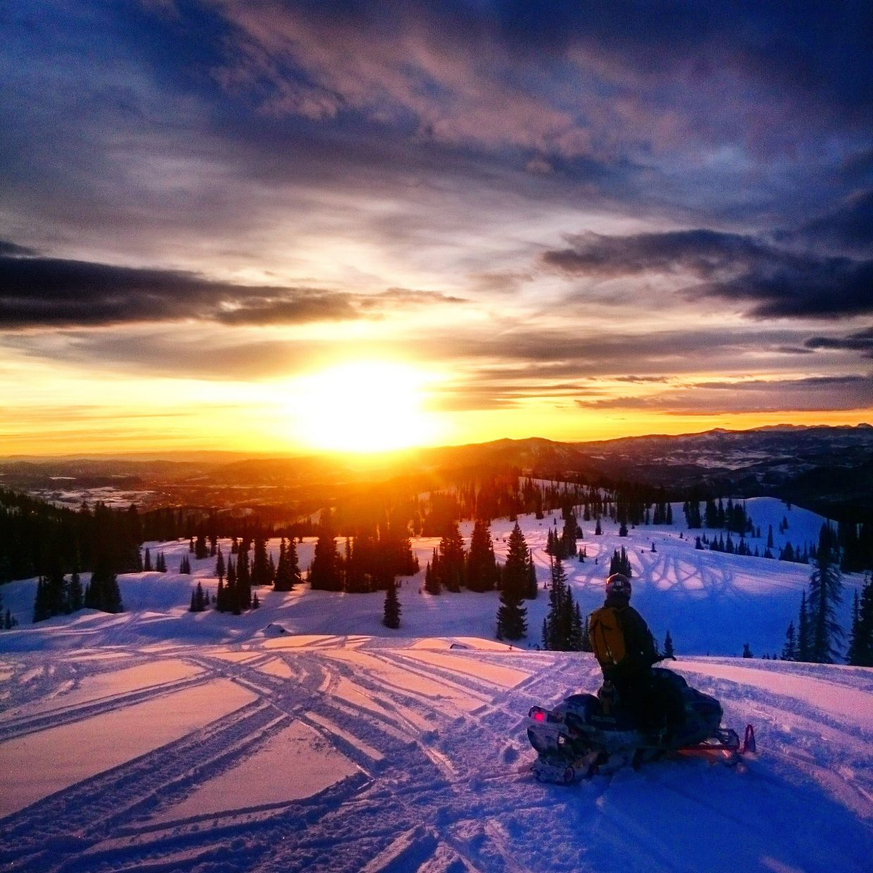 Sunset on Buff Pass. Submitted by Nate Bird.