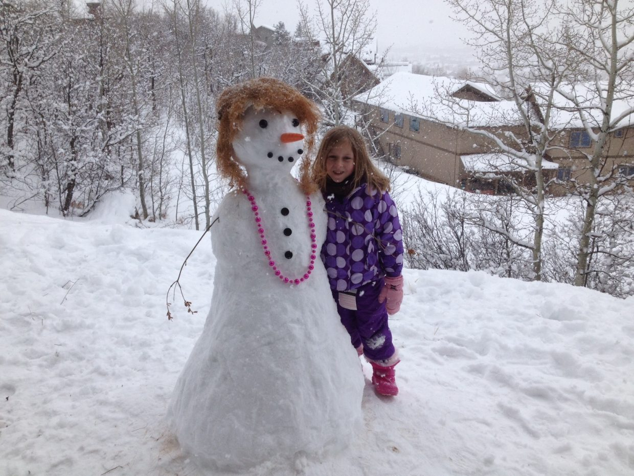 Jacqueline's snowlady. Submitted by: Paige Ohlenburg