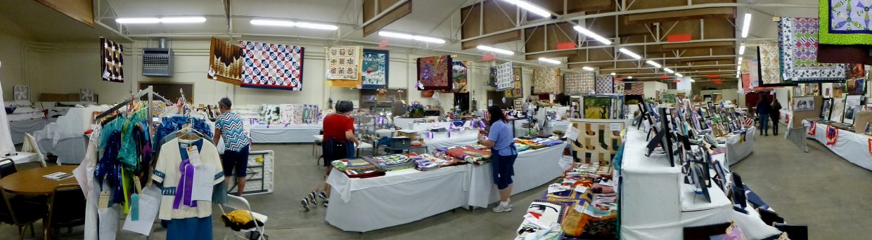 panorama of the exhibit hall. Submitted by Gail Hanley.