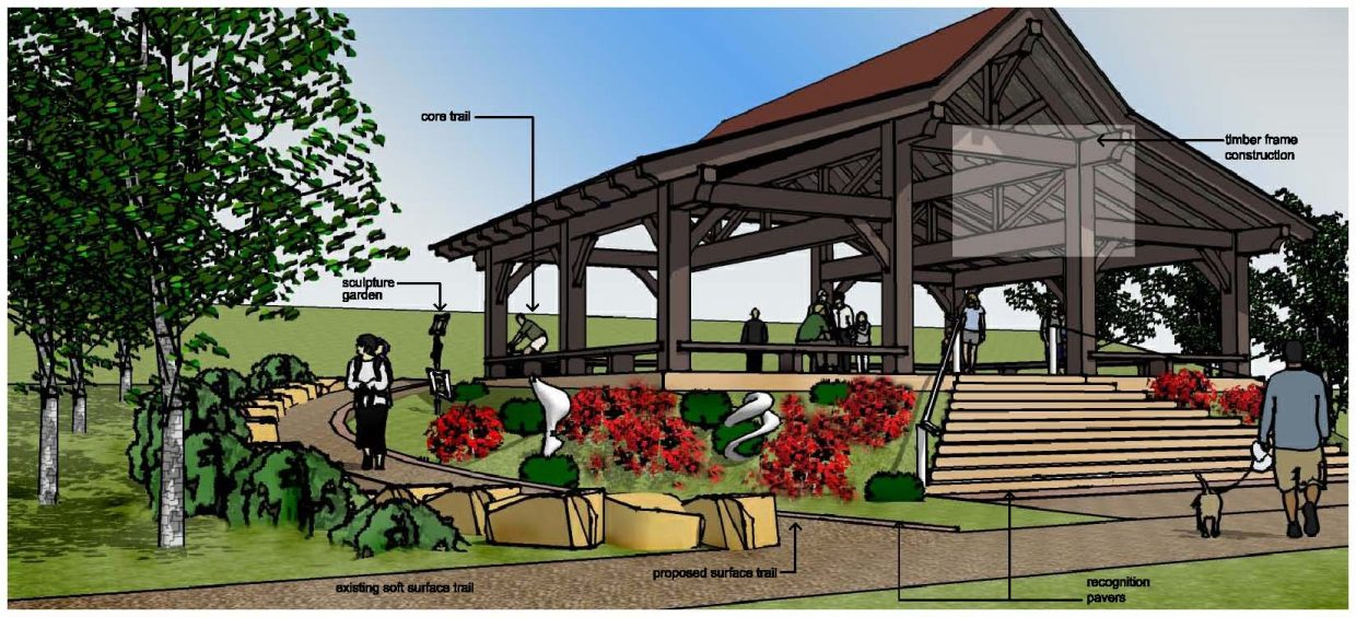 A rendering of the Peace Pavilion the Rotary Club of Steamboat Springs will be building along the Yampa River Core Trail near the Yampa River Boardwalk.