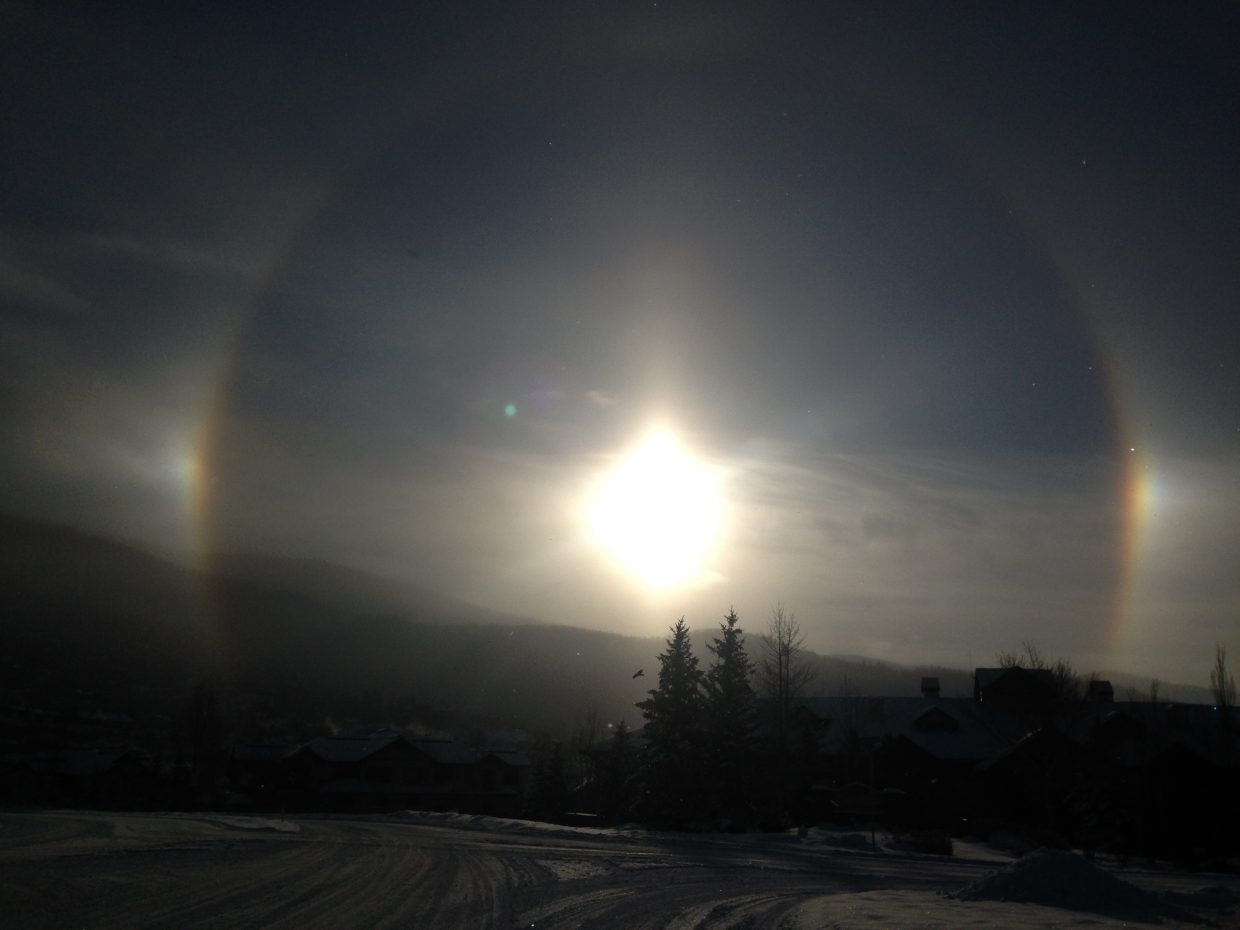 This photo was taken at the top of mount warner road at 8:30 am Sunday by my wife Rachael Rangel enjoy. Submitted by Joey Bowman.