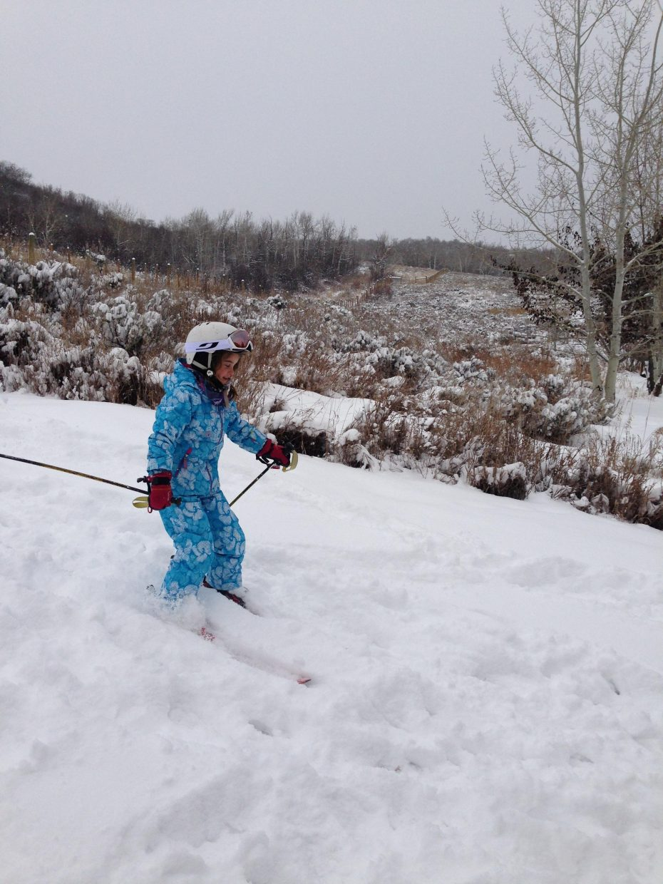 First backyard runs of the season! Submitted by Terri Goforth.