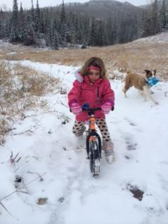 Snow strider biking. Submitted by: Caitlyn Mckenzie.