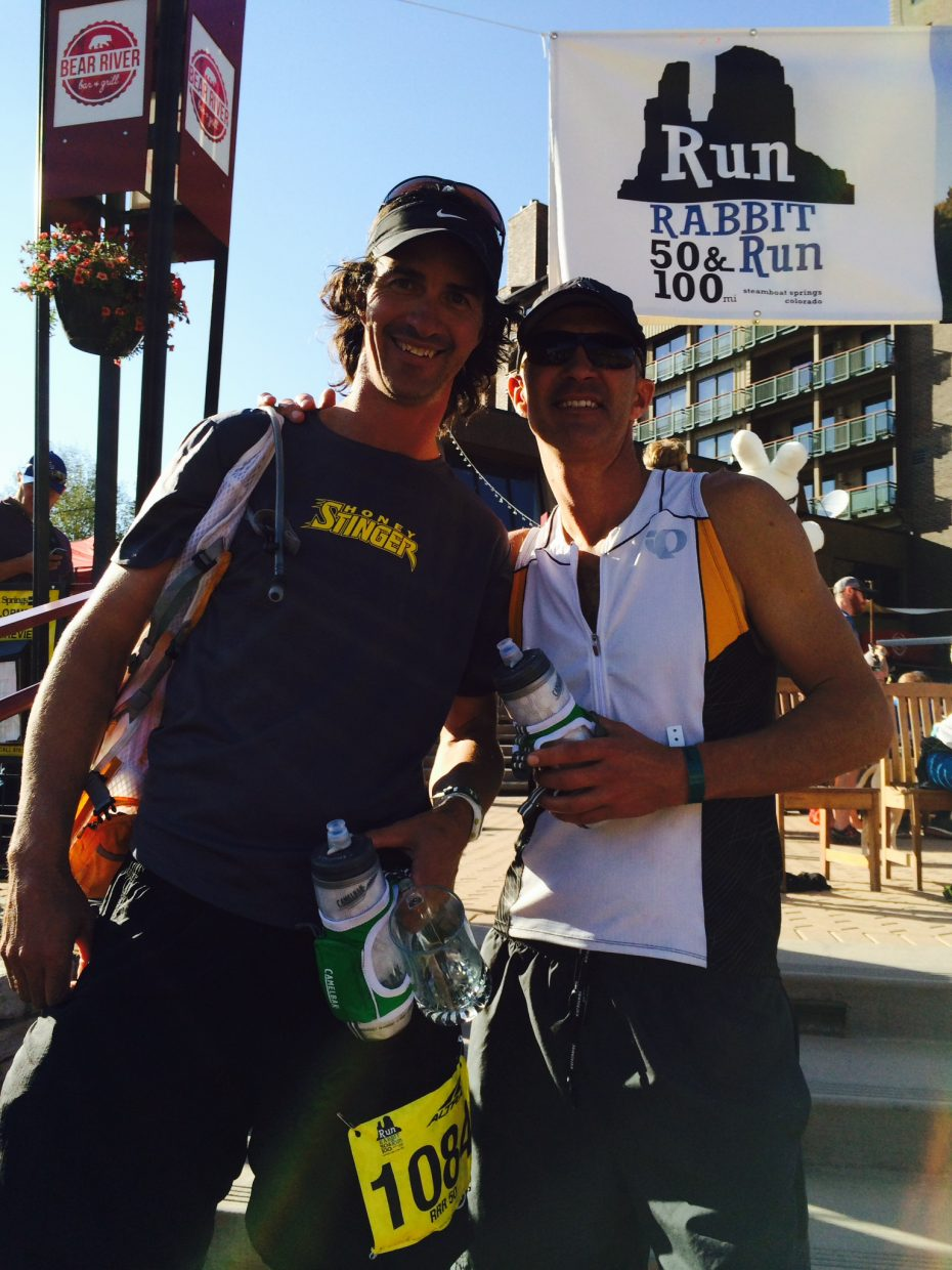 Great run with my brother Brian at the Run Rabbit Run 50-miler. Submitted by: Michael Kelly