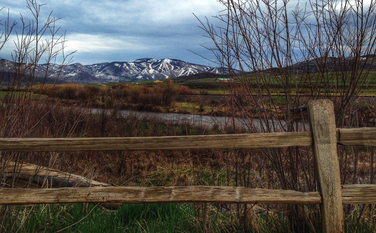 View from behind the 3rd Tee Box, Steamboat Golf Club, Tuesday afternoon. Thanks Linda Danter. Submitted by Chris Lanham.